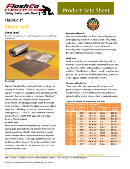 Sheet Lead
