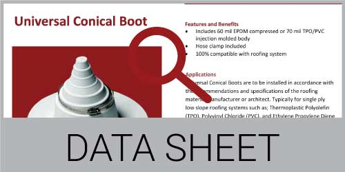 Universal Conical Boot Data Sheet