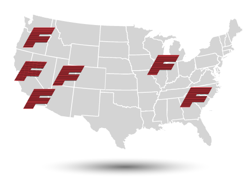 FlashCo Locations Map